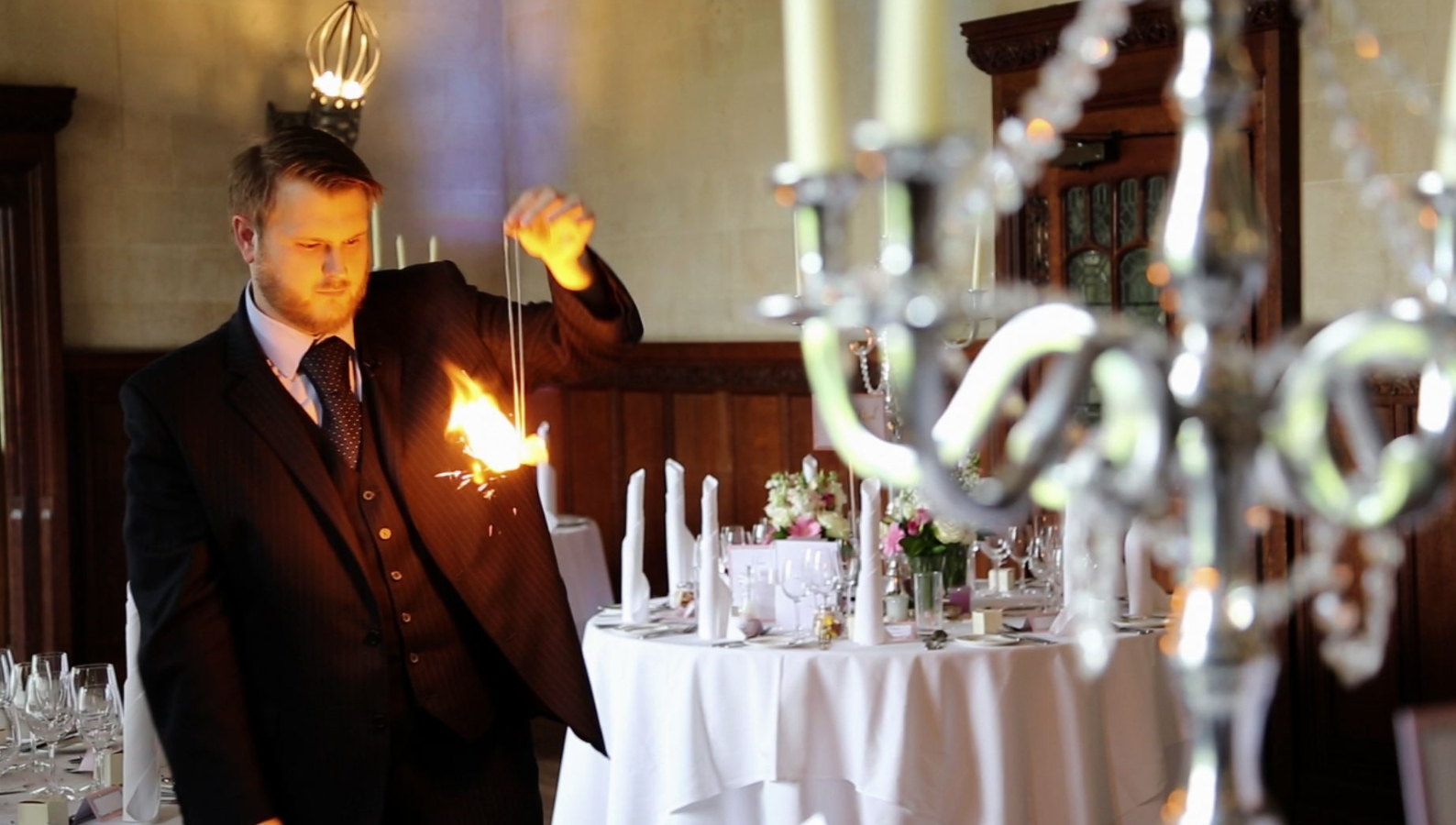 Wedding Magician at Coltsfoot Country Retreat, Datchworth, Hertfordshire