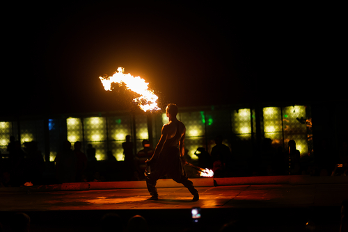 fire eating circus