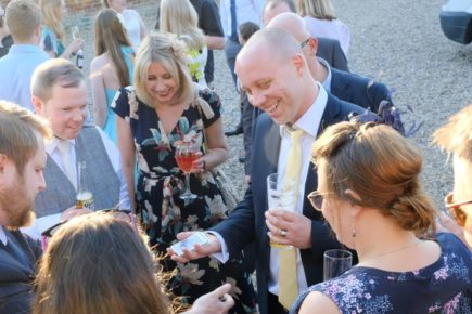 Chris keeping guests entertained at a wedding in Hertfordshire
