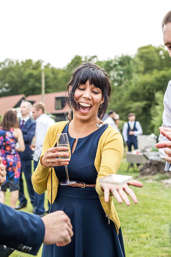 Guests being entertained at a wedding in Hertfordshire