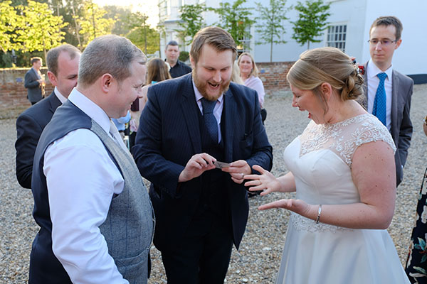 London wedding magician