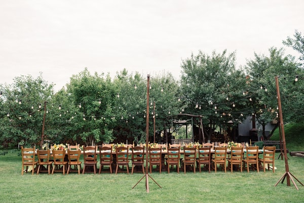 Rural wedding setting