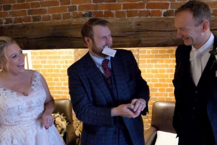 Wedding Magician reaction shot
